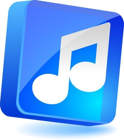 Music 3d icon. Vector illustration. Stock Vector - 5008265