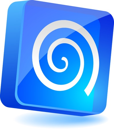 Swirl 3d icon. Vector illustration.  Stock Vector - 5008270