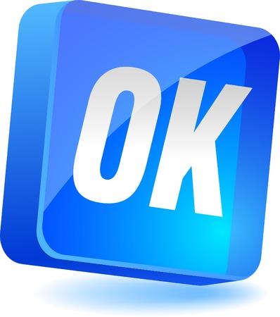 OK 3d icon. Vector illustration. Stock Vector - 5008274