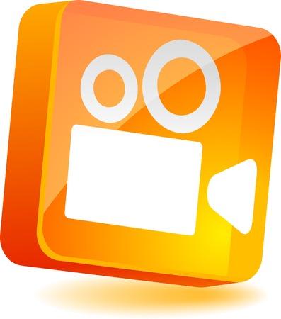 Cinema 3d icon. Vector illustration. Stock Vector - 5008273