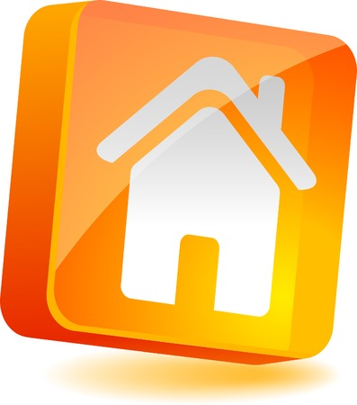 Home 3d icon. Vector illustration.  Vector