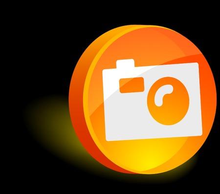 Photo 3d icon. Vector illustration.  Vector