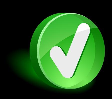 validation: Validation 3d icon. Vector illustration.