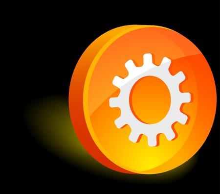 Gear 3d icon. Vector illustration.  Vector