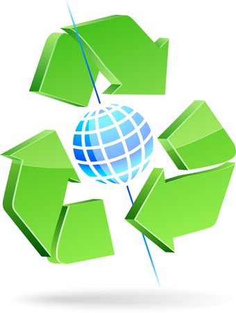 Save earth symbol. Vector illustration. Stock Vector - 5016174