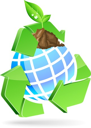 Save earth symbol. Vector illustration. Vector