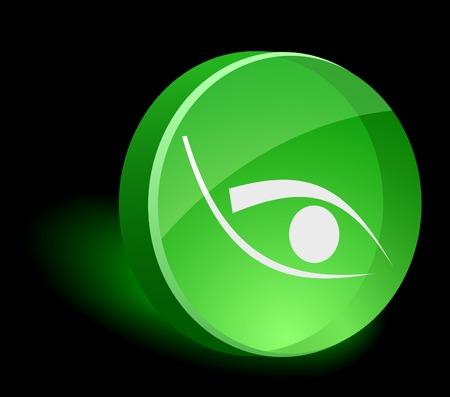 Eye 3d icon. Vector illustration.  Stock Vector - 5021569