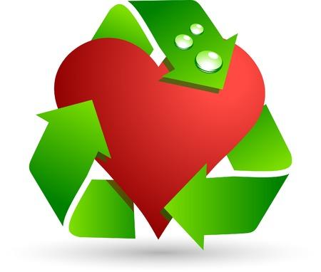 Save love symbol. Vector illustration. Vector