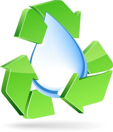 3d Recycle symbol. Vector illustration. Vector
