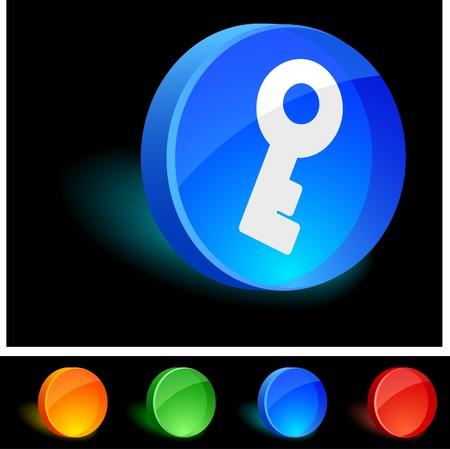 Key 3d icon. Vector illustration. Stock Vector - 5021572