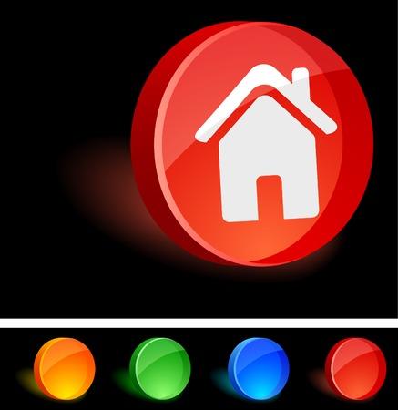 House 3d icon. Vector illustration.  Vector