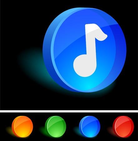 Music 3d icon. Vector illustration. Stock Vector - 5021573