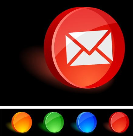 Mail 3d icon. Vector illustration. Stock Vector - 5021574