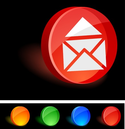 Mail 3d icon. Vector illustration. Stock Vector - 5021576