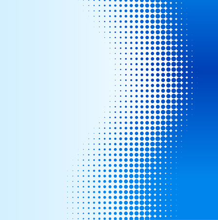 Blue half-tone background. Vector illustration. Ilustração