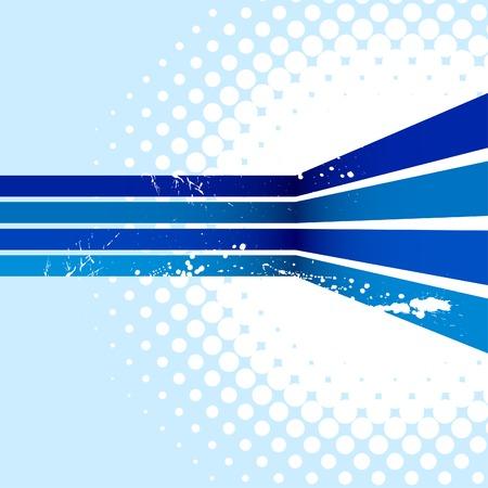 Blue half-tone background. Vector illustration. Stock Vector - 5124682