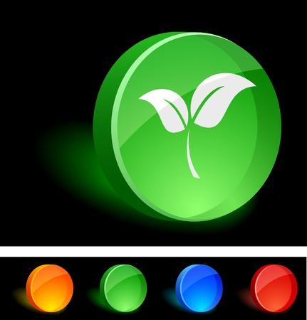 Plant 3d icon. Vector illustration.  Vector