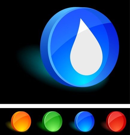 Water 3d icon. Vector illustration.  Vector
