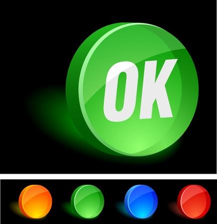 OK 3d icon. Vector illustration. Stock Vector - 5155109