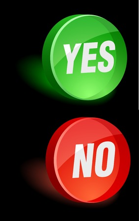 Yes/No 3d icon. Vector illustration. Stock Vector - 5155103