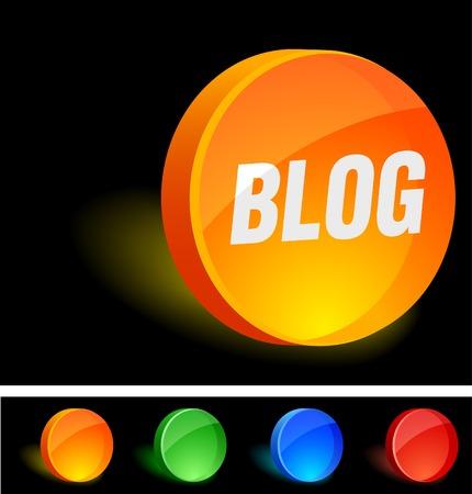 Blog 3d icon. Vector illustration.  Vector