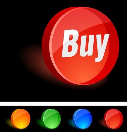 Buy 3d icon. Vector illustration.  Stock Vector - 5155110