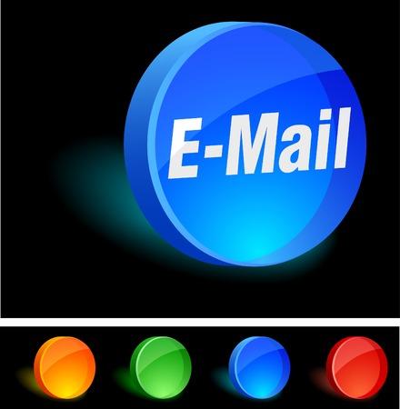 E-mail 3d icon. Vector illustration.  Vector