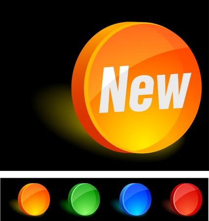 New 3d icon. Vector illustration. Stock Vector - 5174199