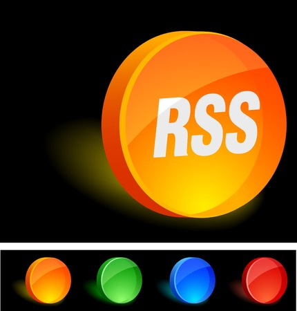 RSS 3d icon. Vector illustration.  Vector
