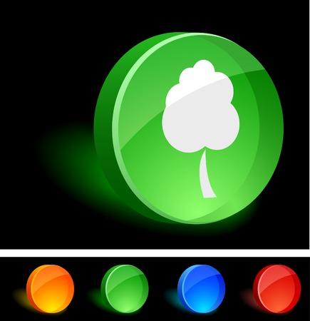 Eco 3d icon. Vector illustration. Stock Vector - 5174193