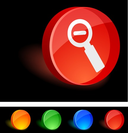 Remove 3d icon. Vector illustration.  Vector