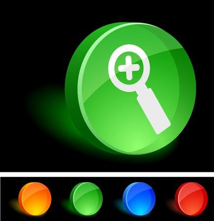 Add 3d icon. Vector illustration.  Vector