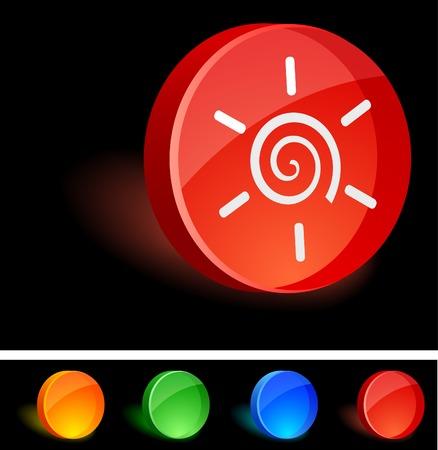 Sun 3d icon. Vector illustration.  Stock Vector - 5174205