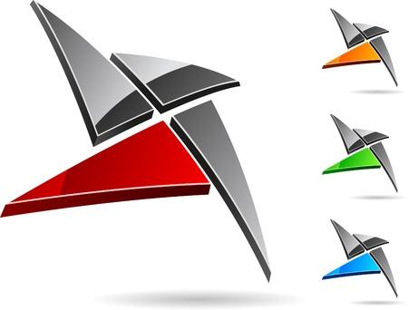 Abstract simbolo dell'azienda. Vector illustration.