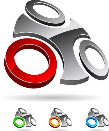Abstract company symbol. Vector illustration. Stock Vector - 5174217