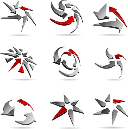 Abstract company symbols. Vector illustration. Stock Vector - 5174225