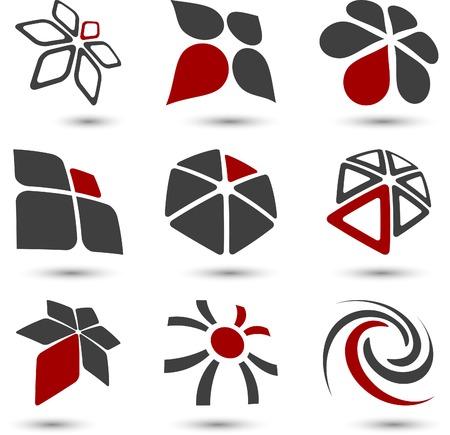 merken: Abstract bedrijf symbolen. Vector illustratie.