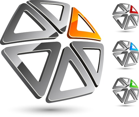 Abstract company symbol. Vector illustration. Stock Vector - 5199984