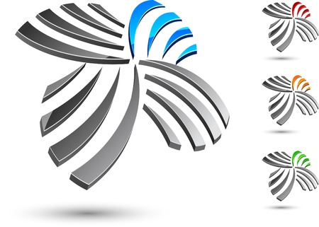 sign simplicity: Abstract company symbol. Vector illustration.