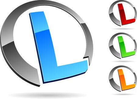 ordinateur logo: Lettre Illustration
