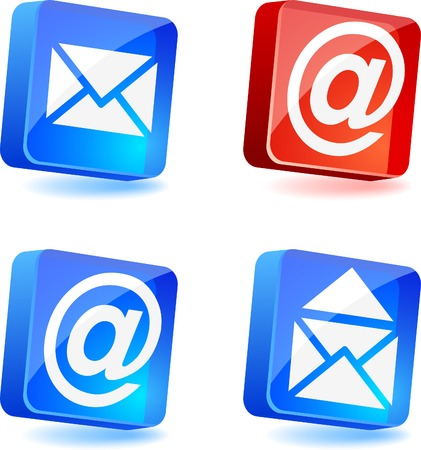 E-mail 3d icons. Vector illustration.  Vector
