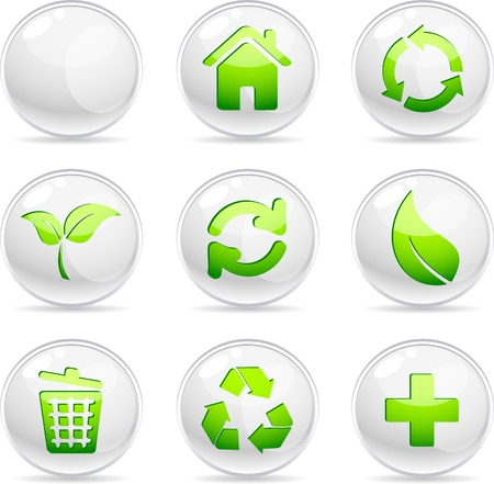 Ecology 3d icons. Vector illustration. Stock Vector - 5212905
