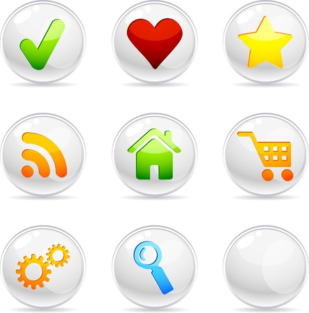 Web 3d icons. Vector illustration.  Vector