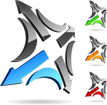 logo informatique: R�sum� entreprise symbole. Vector illustration.