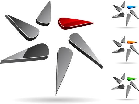 Abstract company symbol. Vector illustration. Stock Vector - 5212909