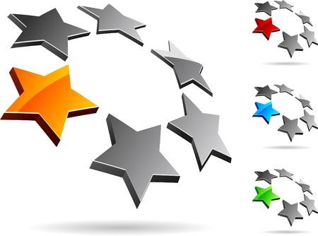 5: Abstract company symbol. Vector illustration.
