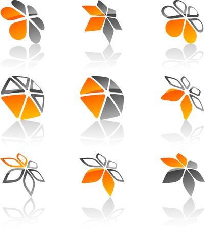 Resumen empresa símbolos. Ilustración vectorial.
