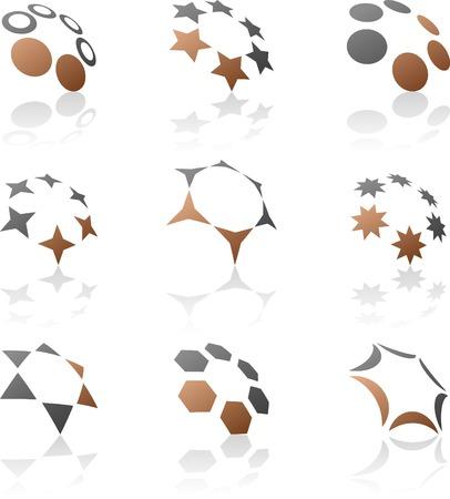 Abstract company symbols. Vector illustration. Stock Vector - 5212938