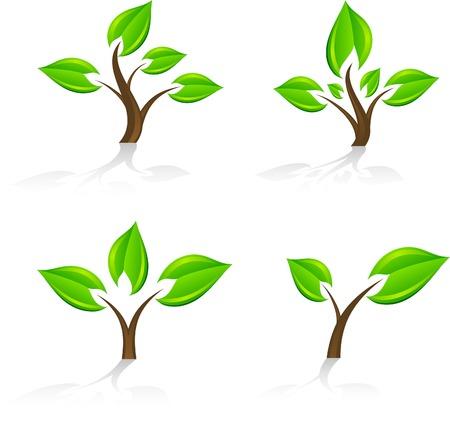 Set of tree icon. Vector. Stock Vector - 5212934