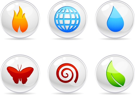 Nature 3d icons. Vector illustration.  Vector
